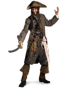 Kapitän Jack Sparrow Kostüm supreme für Herren aus Fluch der Karibik