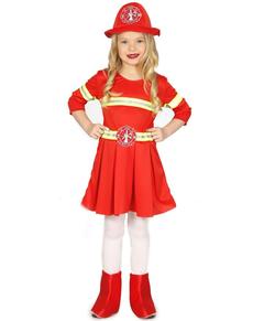 Feuerwehrfrau Kostüm elegant für Mädchen
