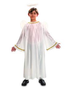 Weihnachtsengel Kostüm weiß für Kinder